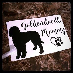 Golden doodle Mommy Dog Decal Sticker goldendoodle